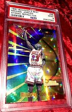 1997 BOWMANS BEST #96 MICHAEL JORDAN ATOMIC REFRACTOR POP 9 PSA 9! ONLY 7 10s!