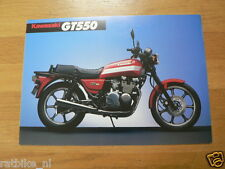 K085 KAWASAKI  BROCHURE PROSPEKT FOLDER GT550 ENGLISH 2 PAGES