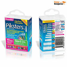 Piksters Interdental Green Handle Size 6 Brush - Pack of 40