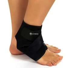 Black Sport Ankle Foot Brace Support Guard Protector Wrap Neoprene Adjustable