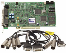 Digigram VX222 v2 24bit AES/EBU Balanced XLR Broadcast Digital Audio Sound Card