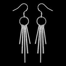 Ladies Earring Ear Hangers Studs Hoop pl. with Sterling silver DO026