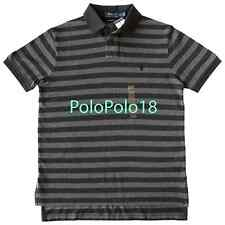 New $98 Polo Ralph Lauren Pony Custom Polo Shirt Stripe Mesh S M L XL 2XL