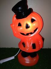 "NEW 15"" Halloween Jack-O-Lantern Pumpkin Dude Lighted Blow Mold Table/Yard Decor"