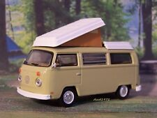 1970 VW VOLKSWAGEN T2 BUS CAMPER VAN COLLECTIBLE DIECAST MODEL - 1/64 DIORAMA