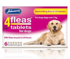 Johnson's 4 puces comprimés, grands chiens 11kg+. pack de 6