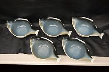 Set of  5, ONE of A KIND Mid Century BLOW FISH BOWLS Potteries - from A PRIVATE