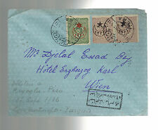 1916 Constantinople Turkey Censored Cover to Hotel Vienna Austria