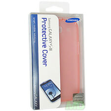 NEW OEM Samsung EFC-1G6WPEGSTA Light Pink TPU Case Cover Galaxy S3 III RETAIL