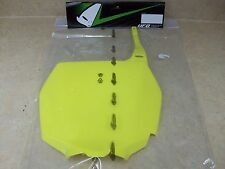 NEW YELLOW UFO FRONT NUMBER PLATE 2001 02-2008 SUZUKI RM 250 RM250 RM125 RM 125