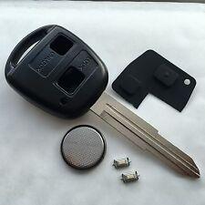 Se adapta a Toyota Yaris Corolla Echo 2 botón llavero remoto Estuche TOY41 Kit De Reparación