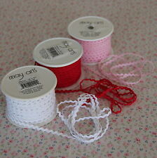 "3m Red (Raspberry) Mini/Baby Ric Rac Trim 1/8"" / 3mm, Wrap"