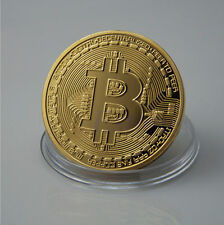 Bitcoin Souvenir Commemorative Coin Replica Gold Colour Novelty Physical Gift UK