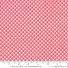 Moda Brenda Riddle Acorn Quilts Fleurs Pinstripe Gingham Fabric Cherry 13635-16
