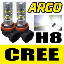 BMW ANGEL EYES H8 LED MARKER BULB CREE 8W USA MADE LUX V4 HALO RING WHITE 6000K