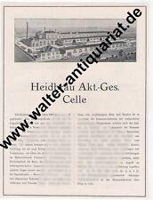 Heidbräu Celle Bier Brauerei Große Reklame von 1924 Werbung advertising