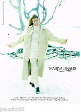 PUBLICITE ADVERTISING 065  1998  MARINA RINALDI  haute couture manteau