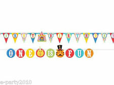 FISHER PRICE CIRCUS 1st Birthday JUMBO BANNER LETTER KIT ~ Party Supplies Decor