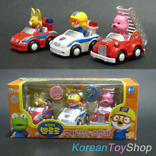 Korean Animation Pororo Mini Car 3 pcs Toy Set Police Patrol Fire Engine
