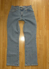 Vintage Blue Denim LEVI'S 550 Zip Relaxed Stretch Bootcut Cowboy Jeans W 29 L 32