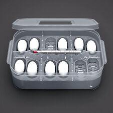 12 Reptile Eggs Incubator Tray + thermograph Gecko Lizard Snake Bird Egg Hatcher