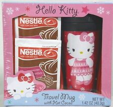 Hello Kitty Pink Travel Mug Gift Set Hot Cocoa Girls Sanrio Sealed Exp 9/16