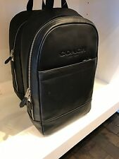 Coach CAMPUS Backpack Charles Slim Sport Calf Leather  Backpacks - Black