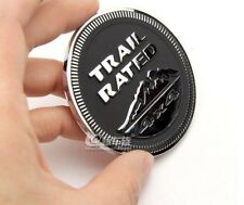 Black Chrome Trail Rated 4X4 Nameplate 3D Car Badge Sticker Emblem For Cherokee
