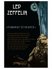 "LED ZEPPELIN POSTER ""STAIRWAY TO HEAVEN"" BRAND NEW"