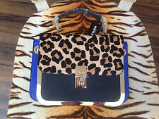 BNWT DUNE LEOPARD ANIMAL PRINT PONY SKIN BAG