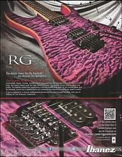 The 2012 Ibanez RG Premium Treatment guitar ad 8 x 11 advertisement print