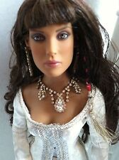 "Tonner Disney Prince of Persia TAMINA 16"" Vinyl Dressed Doll w/STAND + jewelry"