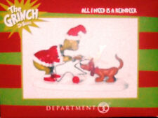 *All I Need Is a Reindeer * Dept 56 Dr. Seuss  Grinch  New