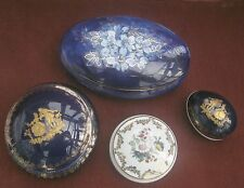 Limoges trinket boxes set of 4 . Highly decorativee