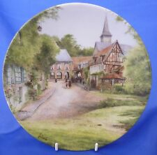 LIMOGES FRENCH COUNTRY LANDSCAPES COLLECTOR PLATE - SUNDAY IN A VILLAGE