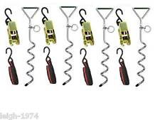 Bonfire Night Storm Tie Down Anchor Strap Kit pegs Pop Up Gazebo Marquee NEW