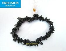 Black Tourmaline Chips Stretch Healing Bracelet Protection Gemstone Crystal Bead