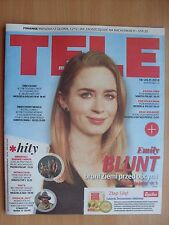 EMILY BLUNT on front cover TELE MAGAZYN 46/2016