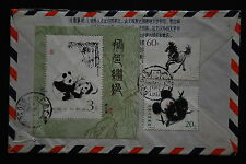 China PRC T28 60f, T106 20f, S/S on Cover - Registered to Singapore