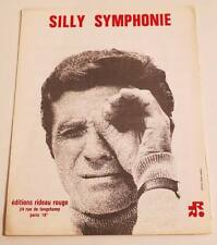 Partition vintage sheet music GILBERT BECAUD : Silly Symphonie * 60's