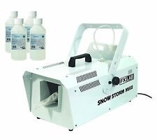 EL41 - FX LAB 1200W ARTIFICIAL SNOW EFFECT MACHINE 5L & 4x 250ml FLUID BOTTLES