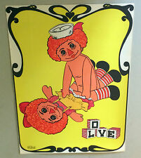 original vintage head shop sex poster pin-up rag dolls livin' doll comedy joke