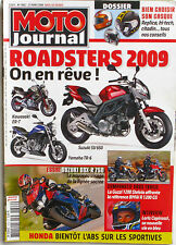 Moto journal n°1802 - 2008 - Roadster 2009 - Loris Capirossi - Honda - Yamaha
