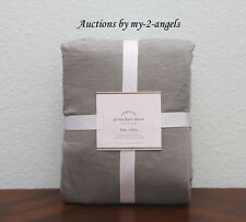 NEW Pottery Barn $169 T-Shirt JERSEY KNIT King Duvet Cover GREY GRAY *So Soft