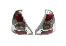 RENAULT CLIO Mk2 1998-2005 LEXUS STYLE CLEAR REAR TAIL LIGHTS LAMPS PAIR Z0128
