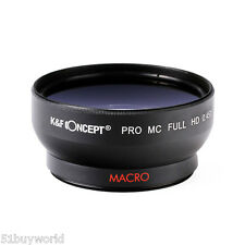 52mm 0.45x Super Wide Angle Macro Conversion Lens for Nikon Canon Olympus Camera