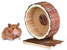 """Nouveau 20 cm 8"""" naturel en bois syrian hamster gerbille cage exercice roue 61035"""