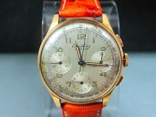 Vintage 1940`S Breitling Premier 18k Rose Gold Reference 787 Chronograph 35mm