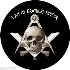 Masonic , car sticker  internal self cling I am my Brothers keeper