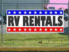 Stars & Stripes RV RENTALS Banner Sign NEW Texas Size & Quality
